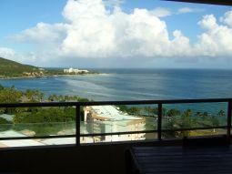 【写真左】テラスからシトロン湾が一望できます