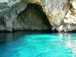 青の洞門へ