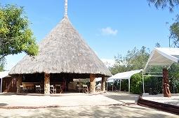 【写真右】島のレストラン。チョイ洒落てます