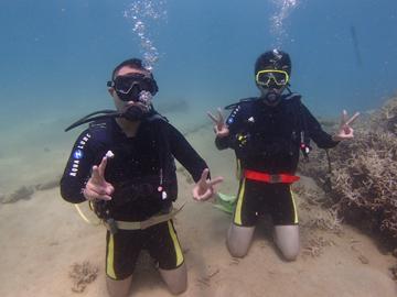ポンツーンで楽しむ体験ダイビング!