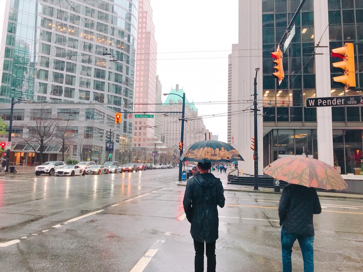 雨男×冬のバンクーバー♪