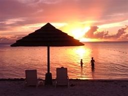 ハイアット前ビーチの夕焼け