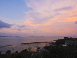 周囲を海に囲まれた素晴らしい眺め