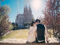 【バルセロナ】<旅×ウェディング×フォト> 衣装持込でお手軽ウェディングフォト! コスチュームプラン ※ドレス等、コスチュームでの旅行撮影となります。