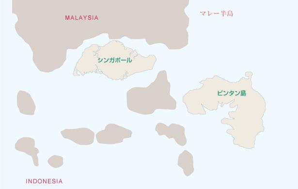 シンガポール・ビンタン島地図
