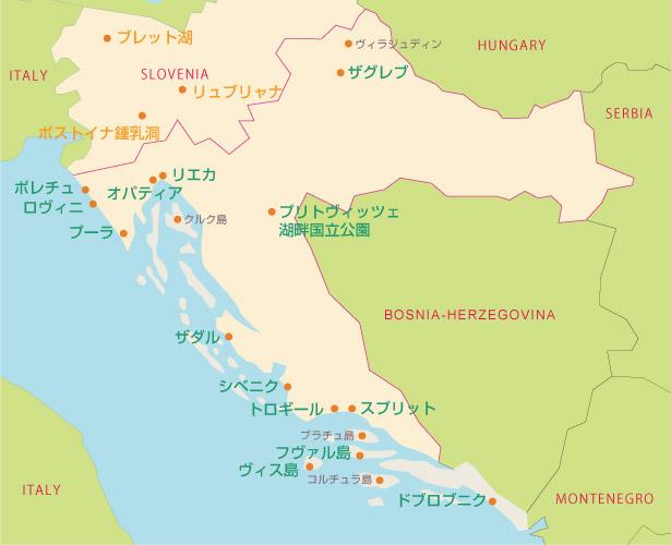クロアチアの都市の一覧 - List of cities and towns in Croatia