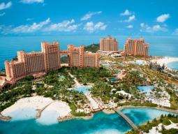 一人旅カリブ海に1人旅♪<アメリカン航空利用>巨大テーマパークリゾートを満喫♪バハマで人気No.1のアトランティス・パラダイス・アイランド滞在6日間